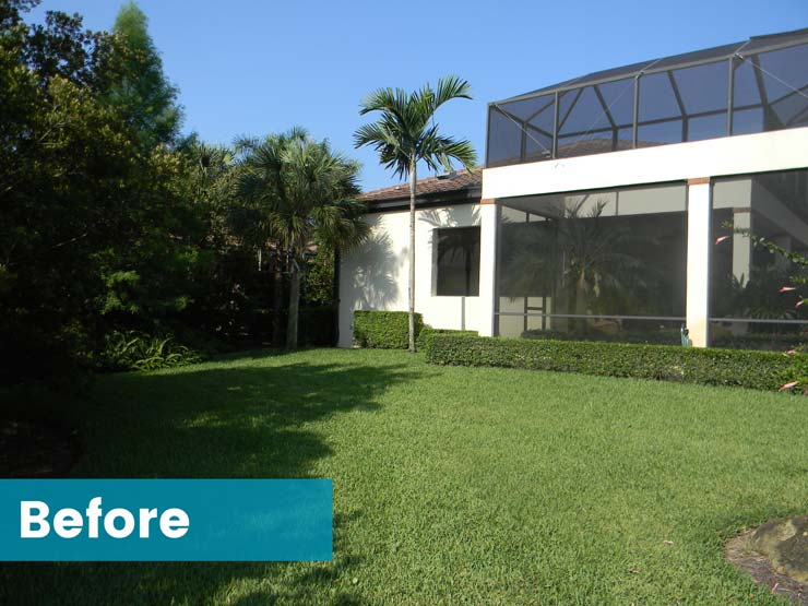 Single family room addition in Naples, Florida - Before - Nourse Building Company